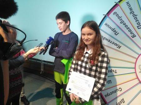 """Лилия Атанасова от 8. б клас е на финала на състезанието  """"Моят град е моята крепост"""""""